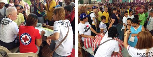 フィリピン台風被災地への緊急支援