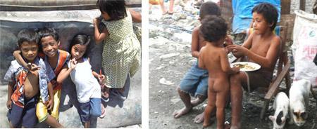 ゴミ捨て場の子供達