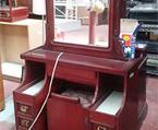 無垢材化粧台チェアー有(H160×W90以上)